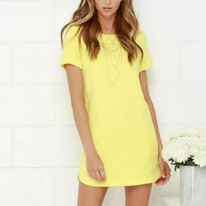 Dresses & Skirts - Yellow Short Sleeve Shift Halloween Dress